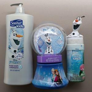 Disney Olaf Body Wash & Bubble Bath 3 piece lot